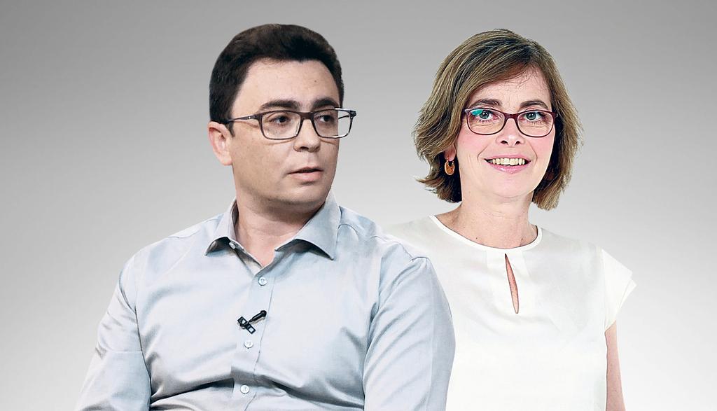 מימין מיכל הלפרין ו יאיר פינס