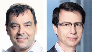 """מימין: מנכ""""ל בנק לאומי חנן פרידמן ובעל השליטה בבנק הדיגיטלי אמנון שעשוע, צילומים: אורן דאי, עמית שעל"""