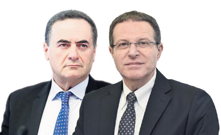 """מימין: מנכ""""ל שירות התעסוקה רמי גראור ושר האוצר ישראל כץ"""