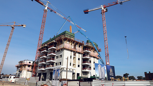 """פרויקט בנייה בראשל""""צ, תמונת ארכיון, צילום: דנה קופל"""