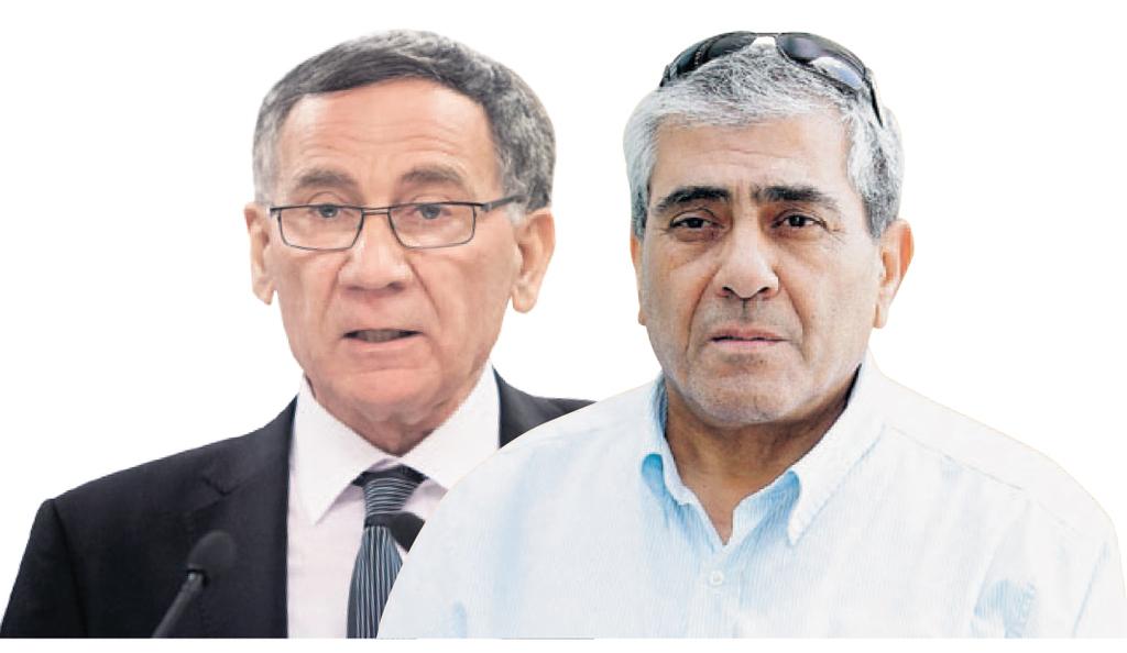 """מימין: מנכ""""ל י.ח דמרי יגאל דמרי וראש עיריית הרצליה משה פדלון"""