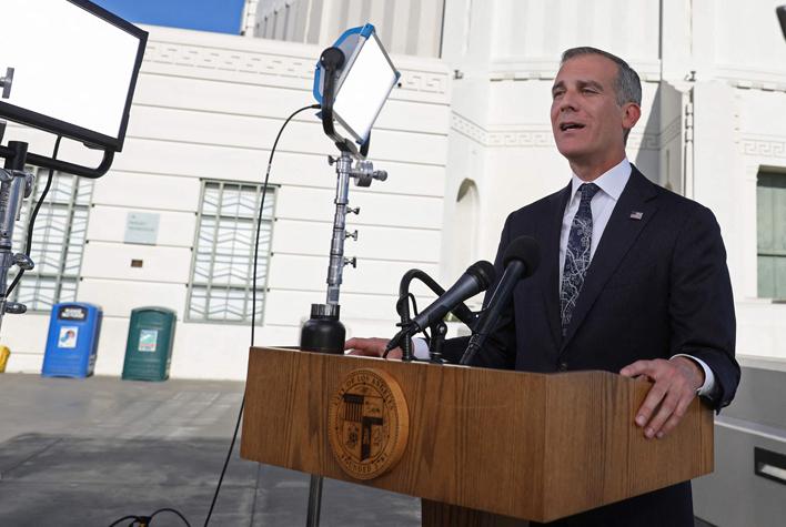 אריק גרסטי ראש עיריית לוס אנג