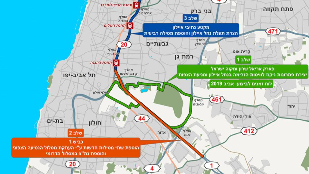 תוואי המסילה הרביעית של רכבת ישראל