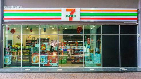 סניף 7-Eleven בצרפת. מיעוט סניפים בתחנות דלק , שאטרסטוק