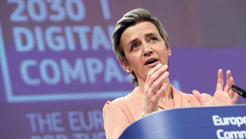 """נציבת התחרותיות של האיחוד האירופי, מרגרט וסטאגר. """"אנו זקוקים לכלים נוספים כדי לפקח על הכוח הזה"""", צילום: איי פי"""