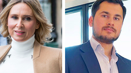 טמור אחמדוב וטטיאנה אחמדובה, צילום: twitter / Temur Akhmedov, איי פי