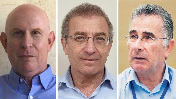 מימין יעקב וכטל, מאיר שפיגלר, חזי שוורצמן
