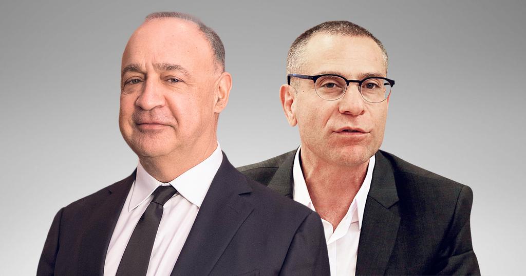 מימין מנהל רשות המסים ערן יעקב ובעל השליטה ב כלל תעשיות לן בלווטניק