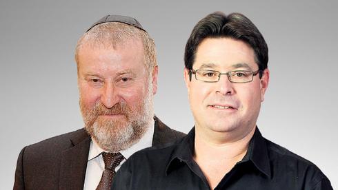 """מימין: השר אופיר אקוניס והיועמ""""ש אביחי מנדלבליט, צילום: טל שחר, אוראל כהן"""