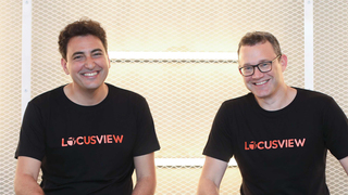 Locusview founder Shahar Levi and Assaf Harel, General Partner at IGP. Photo: Moti Vagman