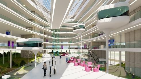 הדמיה מבפנים של קמפוס אינטל, הדמיה: אדריכל מושלי דגן וסטודיו ורד גינדי אדריכלות פנים
