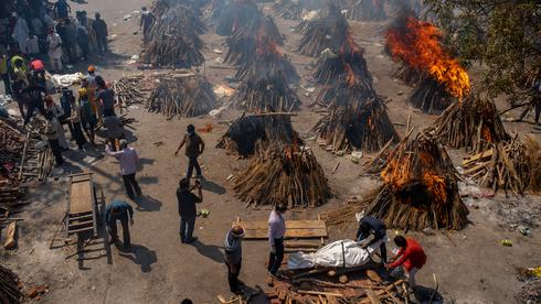 שריפת גופות בהודו, צילום: איי פי