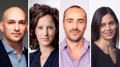 פאנל ביג דאטה. מימין: מאיה הנקין, תומי שנפלד, גלי ארנון, יואב מאיר-וולף