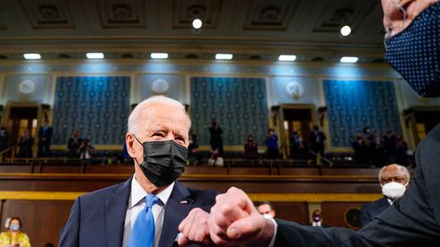 ביידן מגיע לקונגרס, צילום: איי פי