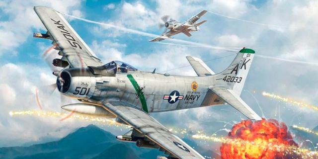 הקברניט מלחמת קוריאה סקייריידר תקיפה