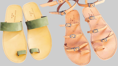 סנדלים של Greek Sandals לנשים ולגברים. הגוונים מסמנים תנודות בעונה: תחילת הקיץ, אמצע הקיץ וסופו , צילום: סולל פיקאל