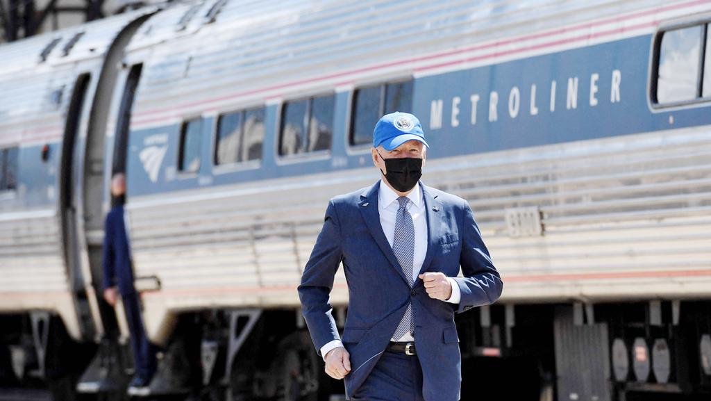"""נשיא ארה""""ב ג'ו ביידן בסוף השבוע, בטקס היובל של תחנת רכבת ב פילדלפיה"""