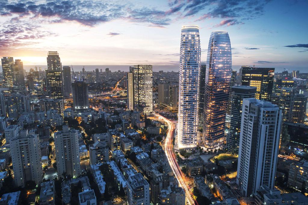 הדמיית נמגדל של חברת מגדל ביטוח מגדל תעסוקה צומת עלית רמת גן