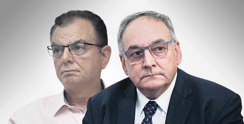 """מימין: מנכ""""ל הדסה זאב רוטשטיין ויו""""ר ההסתדרות הרפואית ציון חגי"""