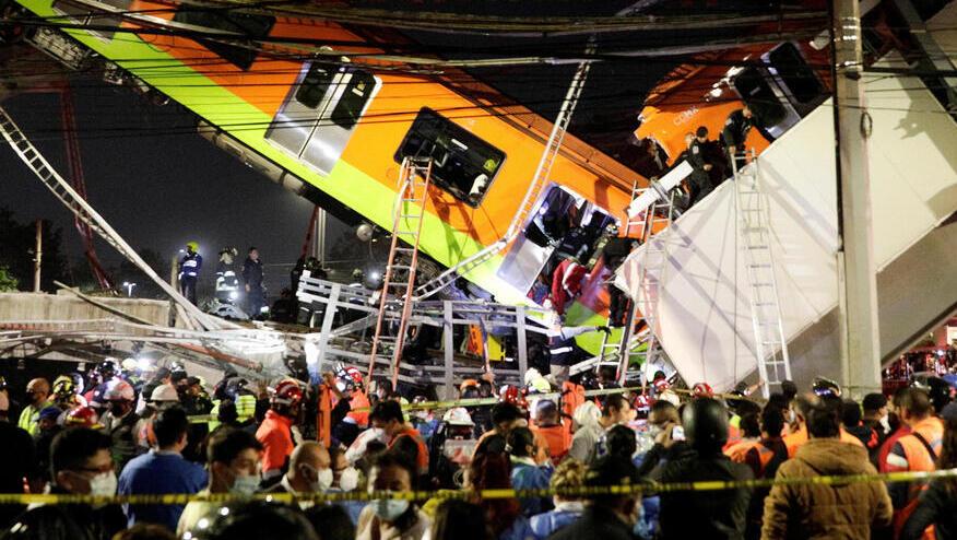 אסון במטרו במקסיקו: גשר קרס, לפחות 15 נהרגו, עשרות נפצעו