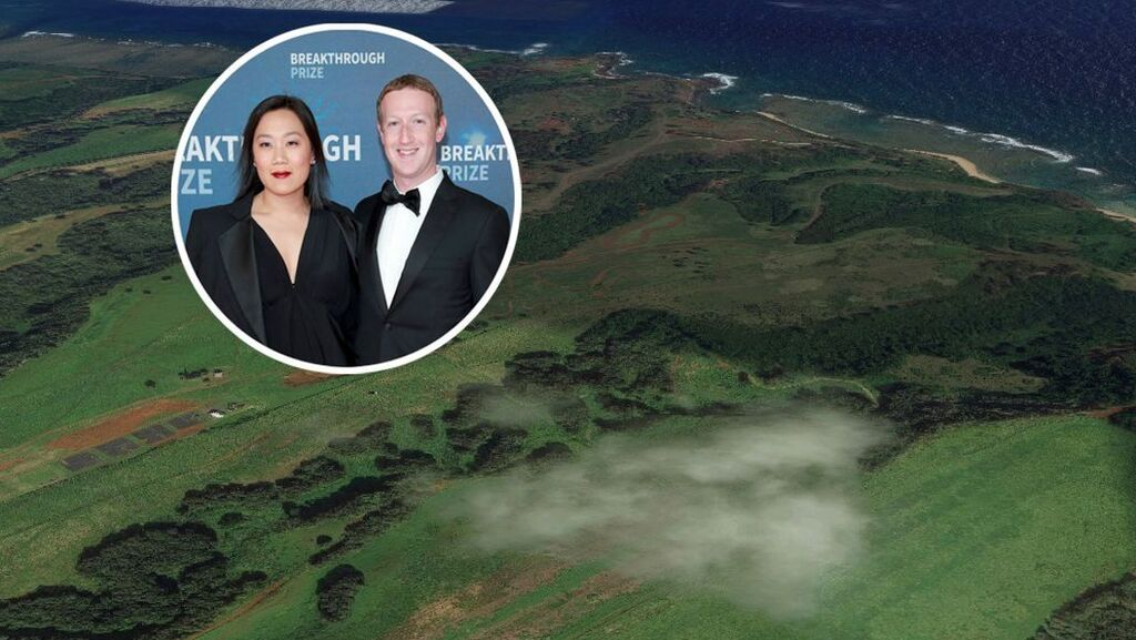 מארק צוקרברג ואשתו רכשו עוד 2,400 דונם באי קוואי בהוואי תמורת 53 מיליון דולר
