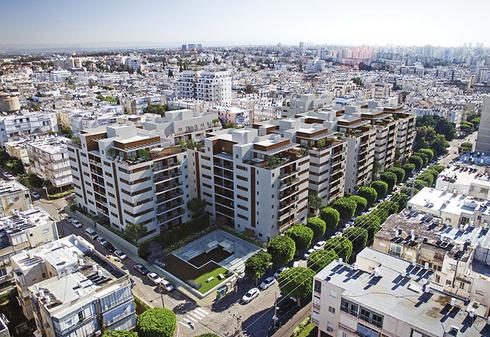 """פרויקט חנקין בחולון. """"הפינוי-בינוי הגדול והמקיף בישראל עם 440 דירות חדשות"""" , באדיבות משרד אומיד ושות"""