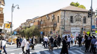 חרדים בשכונת מאה שערים בירושלים, צילום: עמית שאבי