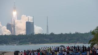 רקטה סינית לונג מארץ 5B יצאה משליטה צפויה להתרסק 2, צילום: רויטרס