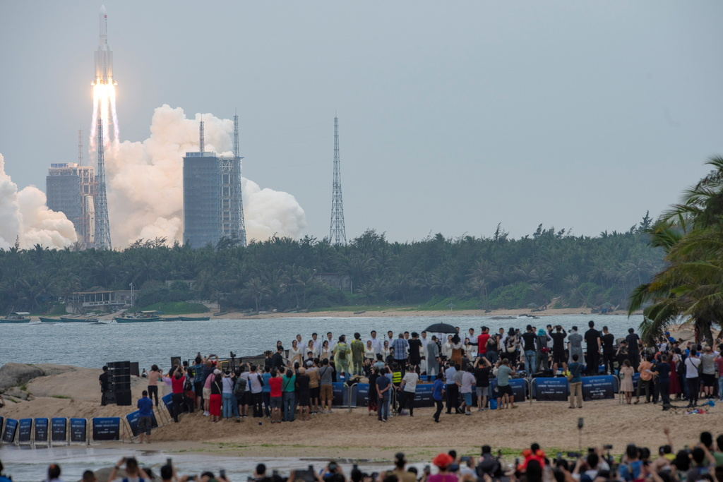 רקטה סינית לונג מארץ 5B יצאה משליטה צפויה להתרסק 2
