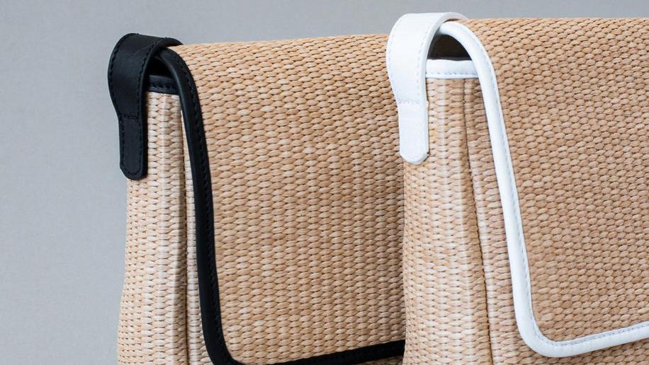 פנאי תיק מראפיה טבעית בשילוב עור לקיץ של המעצבת ענבר הררי