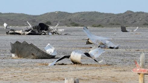 חלקי כלי טיס של ספייס X שהתרסקו בבוקה צ