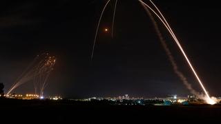 ירי מרצועת עזה ויירוטים, צילום: איי אף פי