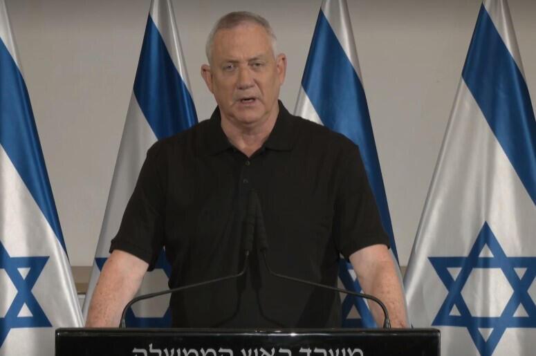 בני גנץ הצהרה מבצע שומר החומות אחרי ירי טילים רקטות על ישראל מ עזה