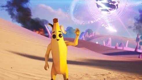 תמונה בלתי הולמת. פילי, קמע הבננה של פורטנייט (ללא טוקסידו), מתוך פורטניט