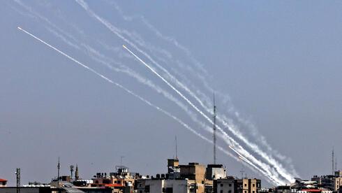 ירי רקטות מרצועת עזה לישראל 11.5.21, AFP