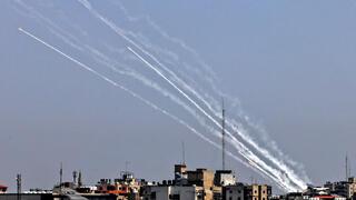 ירי רקטות מרצועת עזה לישראל , AFP