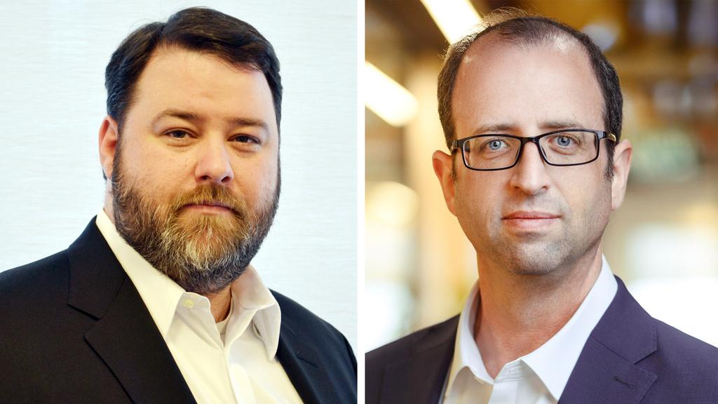 "מימין ממייסדי VisibleRisk יגאל ברגר ומייסד שותף ומנכ""ל דרק ואדלה"