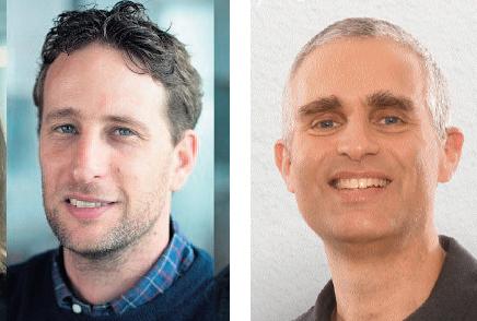 """מימין: מייסד ומנכ""""ל גלובל E אמיר שלכט, ומייסד ומנכ""""ל סימילרווב אור עופר"""