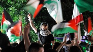 הפגנת תמיכה בחמאס, צילום: איי אף פי