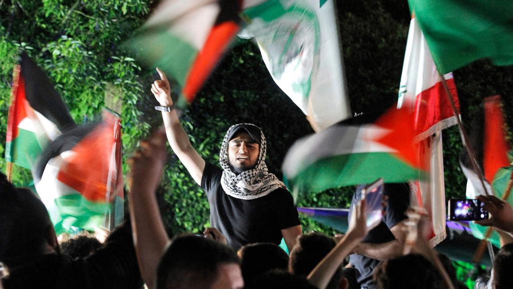 הפגנת תמיכה ב חמאס
