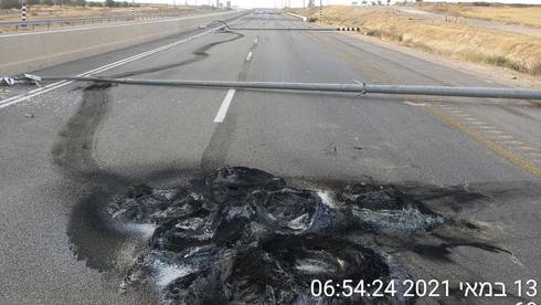 נזקים בכביש חברת נתיבי ישראל , צילום: חברת נתיבי ישראל