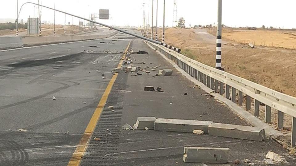 מהומות בדואים גרמו נזקים ב כביש 31