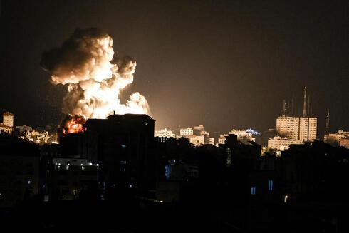 תקיפת חיל האוויר בעזה, הלילה, AFP