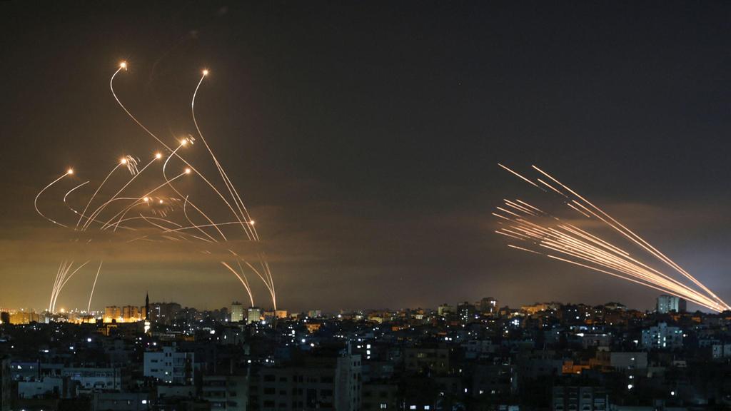 ירי מטח רקטות יירוט כית ברזל מבצע שומר החומות