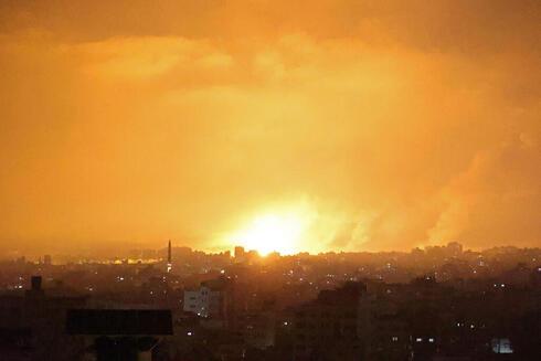 """תקיפה של צה""""ל בעזה, AFP"""