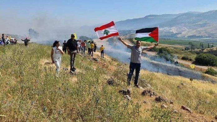 לבנונים מפגינים בגבול ליד מטולה, ynet