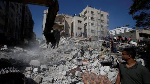 הריסות בעזה, מבצע שומר החומות, AFP