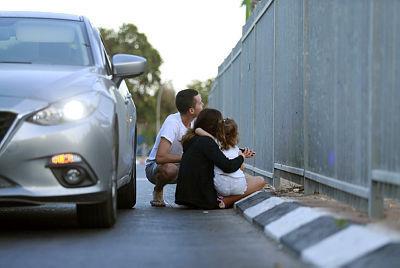 משפחה מאשקלון תופסת מחסה מהירי מעזה, עמית שעל