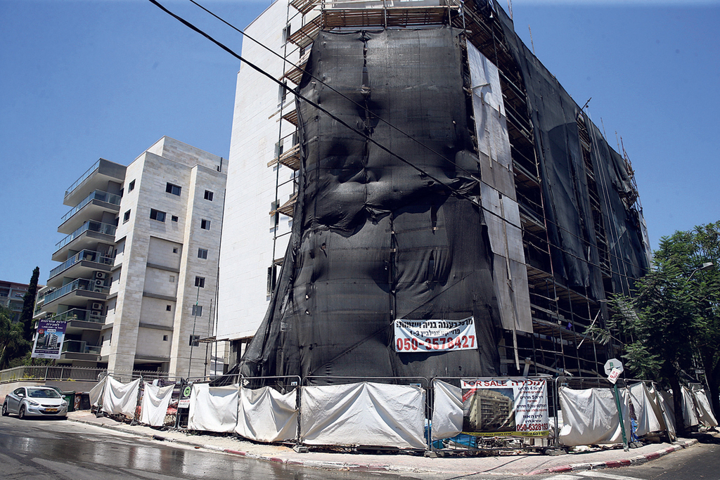 "בניין שעובר תמ""א 38 רחוב אלי כהן רעננה"