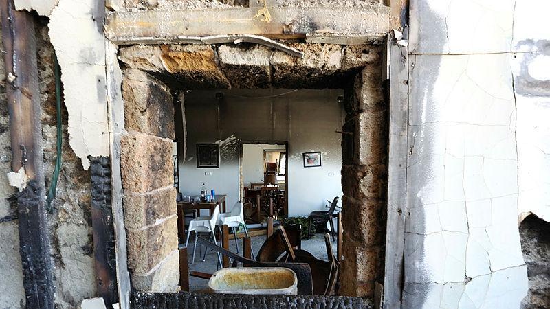מסעדה שנשרפה ב עכו